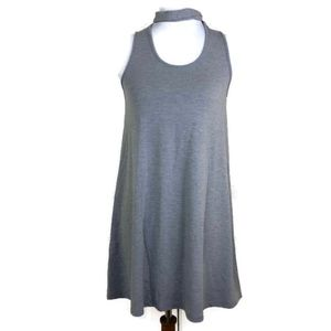 Topshop Women's Solid Gray Sleeveless Dress Size 4